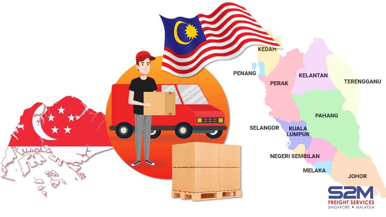 S2M Freight Services Pte Ltd provides trucking and lorry delivery services from Singapore to Malaysia, Malaysia to Singapore, door-to-door